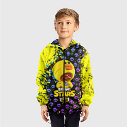 Ветровка с капюшоном детская Brawl Stars SALLY LEON цвета 3D-черный — фото 2