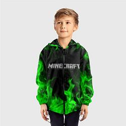 Ветровка с капюшоном детская MINECRAFT цвета 3D-черный — фото 2