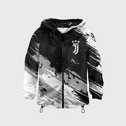 Ветровка с капюшоном детская Juventus F C цвета 3D-черный — фото 1
