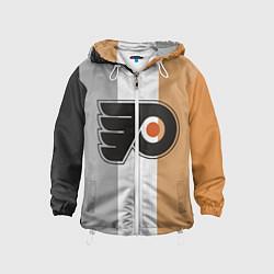 Ветровка с капюшоном детская Philadelphia Flyers цвета 3D-белый — фото 1