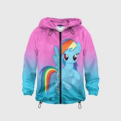 Детская 3D-ветровка с капюшоном с принтом My Little Pony, цвет: 3D-черный, артикул: 10075443504549 — фото 1
