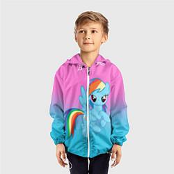 Ветровка с капюшоном детская My Little Pony цвета 3D-белый — фото 2