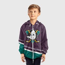 Ветровка с капюшоном детская Anaheim Ducks Selanne цвета 3D-белый — фото 2