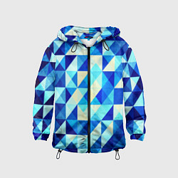 Детская ветровка Синяя геометрия