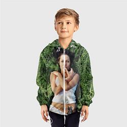 Ветровка с капюшоном детская Анджелина Джоли цвета 3D-белый — фото 2