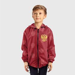 Ветровка с капюшоном детская Сборная России по футболу цвета 3D-черный — фото 2