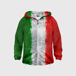Ветровка с капюшоном детская Italian цвета 3D-белый — фото 1