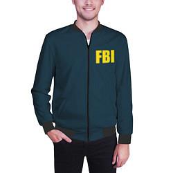 Бомбер мужской FBI цвета 3D-черный — фото 2