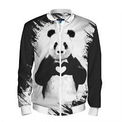 Бомбер мужской Panda Love цвета 3D-белый — фото 1