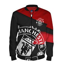 Бомбер мужской FC Man United: Exclusive цвета 3D-черный — фото 1