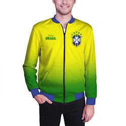 Бомбер мужской CBF Brasil цвета 3D-синий — фото 2