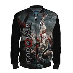 Бомбер мужской God of War цвета 3D-черный — фото 1