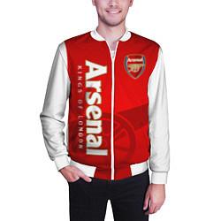 Бомбер мужской Arsenal цвета 3D-белый — фото 2