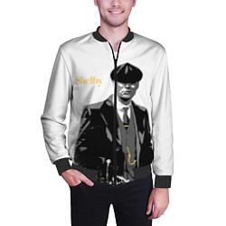 Бомбер мужской Томас Шелби цвета 3D-черный — фото 2