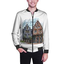 Бомбер мужской Амстердам цвета 3D-черный — фото 2