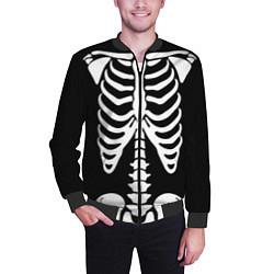 Бомбер мужской Скелет цвета 3D-черный — фото 2