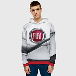 Толстовка-худи мужская FIAT цвета 3D-красный — фото 2