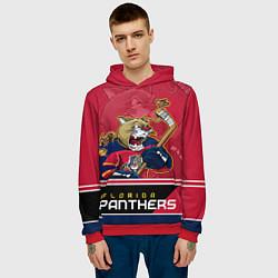 Толстовка-худи мужская Florida Panthers цвета 3D-красный — фото 2