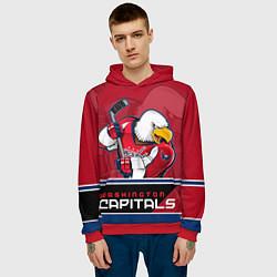 Толстовка-худи мужская Washington Capitals цвета 3D-красный — фото 2