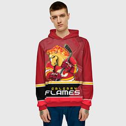 Толстовка-худи мужская Calgary Flames цвета 3D-красный — фото 2