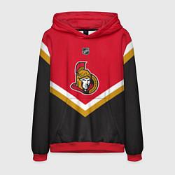 Толстовка-худи мужская NHL: Ottawa Senators цвета 3D-красный — фото 1