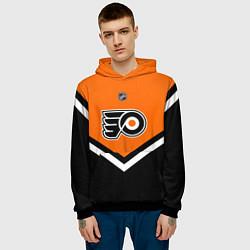 Толстовка-худи мужская NHL: Philadelphia Flyers цвета 3D-черный — фото 2