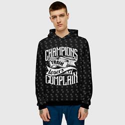 Толстовка-худи мужская Champions Train цвета 3D-черный — фото 2