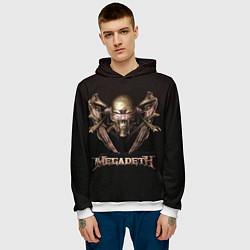 Толстовка-худи мужская Megadeth цвета 3D-белый — фото 2