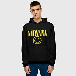 Толстовка-худи мужская Nirvana Rock цвета 3D-черный — фото 2