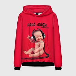 Толстовка-худи мужская Paparoach: Music Kid цвета 3D-черный — фото 1