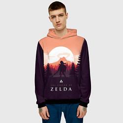 Толстовка-худи мужская The Legend of Zelda цвета 3D-черный — фото 2