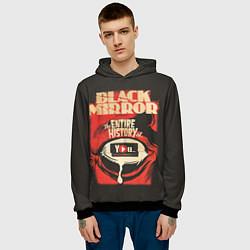 Толстовка-худи мужская Black Mirror: Entire history цвета 3D-черный — фото 2
