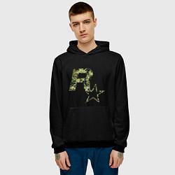 Толстовка-худи мужская Rockstar цвета 3D-черный — фото 2