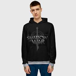 Толстовка-худи мужская Shadow of War цвета 3D-меланж — фото 2