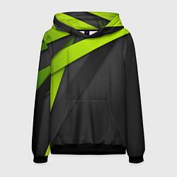 Толстовка-худи мужская Спортивная геометрия 6 цвета 3D-черный — фото 1
