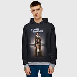Толстовка-худи мужская TOMB RAIDER цвета 3D-меланж — фото 2