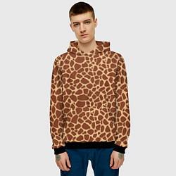 Толстовка-худи мужская Жираф цвета 3D-черный — фото 2