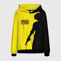 Толстовка-худи мужская PUBG: Yellow Shadow цвета 3D-черный — фото 1