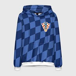 Толстовка-худи мужская Сборная Хорватии цвета 3D-белый — фото 1