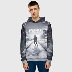 Толстовка-худи мужская Metro Exodus цвета 3D-меланж — фото 2