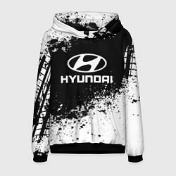 Толстовка-худи мужская Hyundai: Black Spray цвета 3D-черный — фото 1