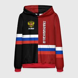 Толстовка-худи мужская Transbaikalia, Russia цвета 3D-красный — фото 1