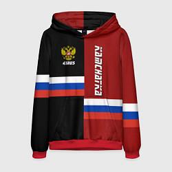Толстовка-худи мужская Kamchatka, Russia цвета 3D-красный — фото 1