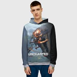 Толстовка-худи мужская Uncharted: The Lost Legacy цвета 3D-меланж — фото 2