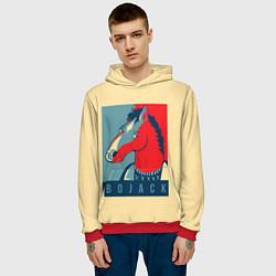 Толстовка-худи мужская BoJack Obey цвета 3D-красный — фото 2
