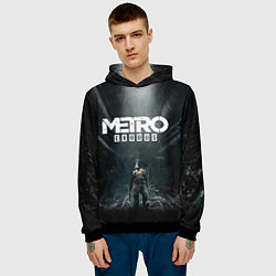 Толстовка-худи мужская Metro Exodus цвета 3D-черный — фото 2
