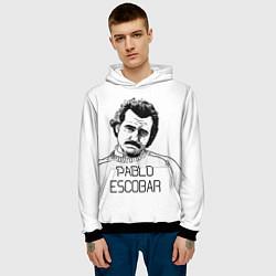 Толстовка-худи мужская Pablo Escobar цвета 3D-черный — фото 2