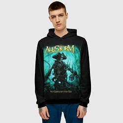 Толстовка-худи мужская Alestorm: Death Pirate цвета 3D-черный — фото 2