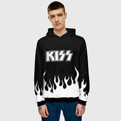 Толстовка-худи мужская Kiss цвета 3D-черный — фото 2