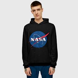 Толстовка-худи мужская NASA Краски цвета 3D-черный — фото 2